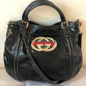 Gucci Patent Crossbady Bag